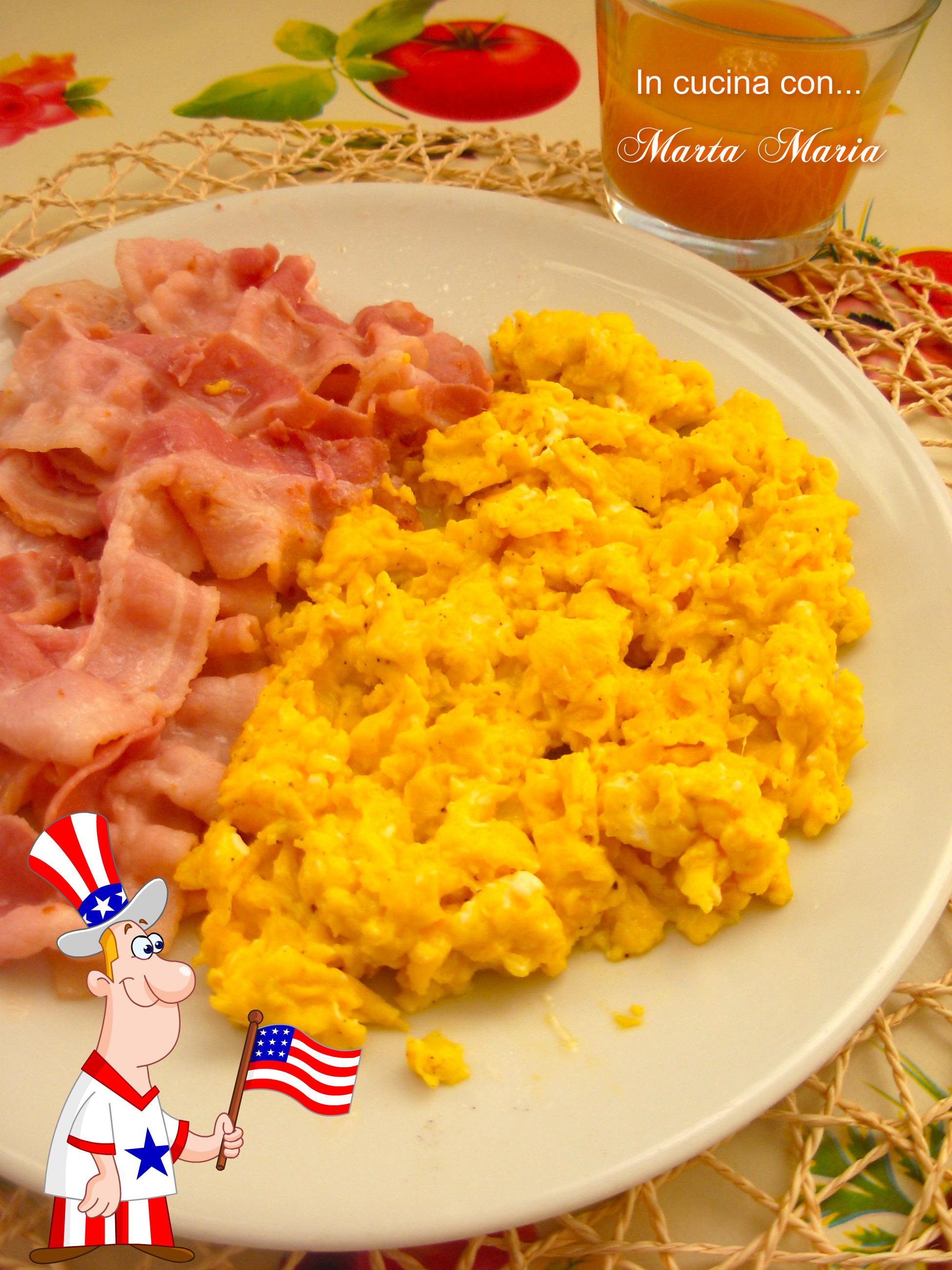 Ricetta Per Uova Strapazzate Giallozafferano.Uova Strapazzate E Bacon Ricetta Facile In Cucina Con Marta Maria