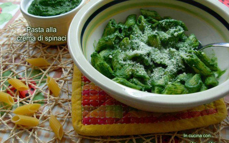 Pasta alla crema di spinaci