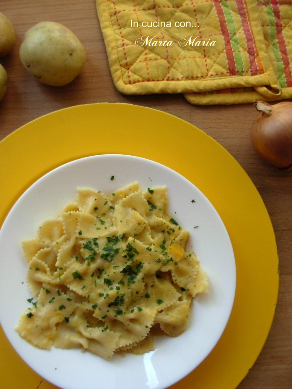 farfalle in crema di peperoni light