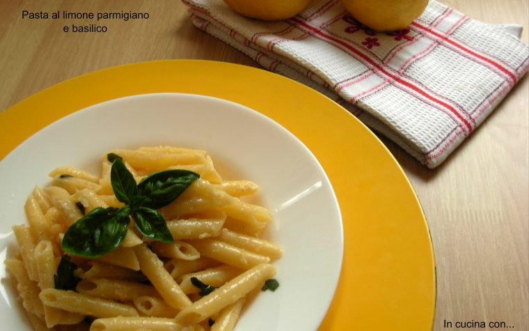 Pasta al limone parmigiano e basilico