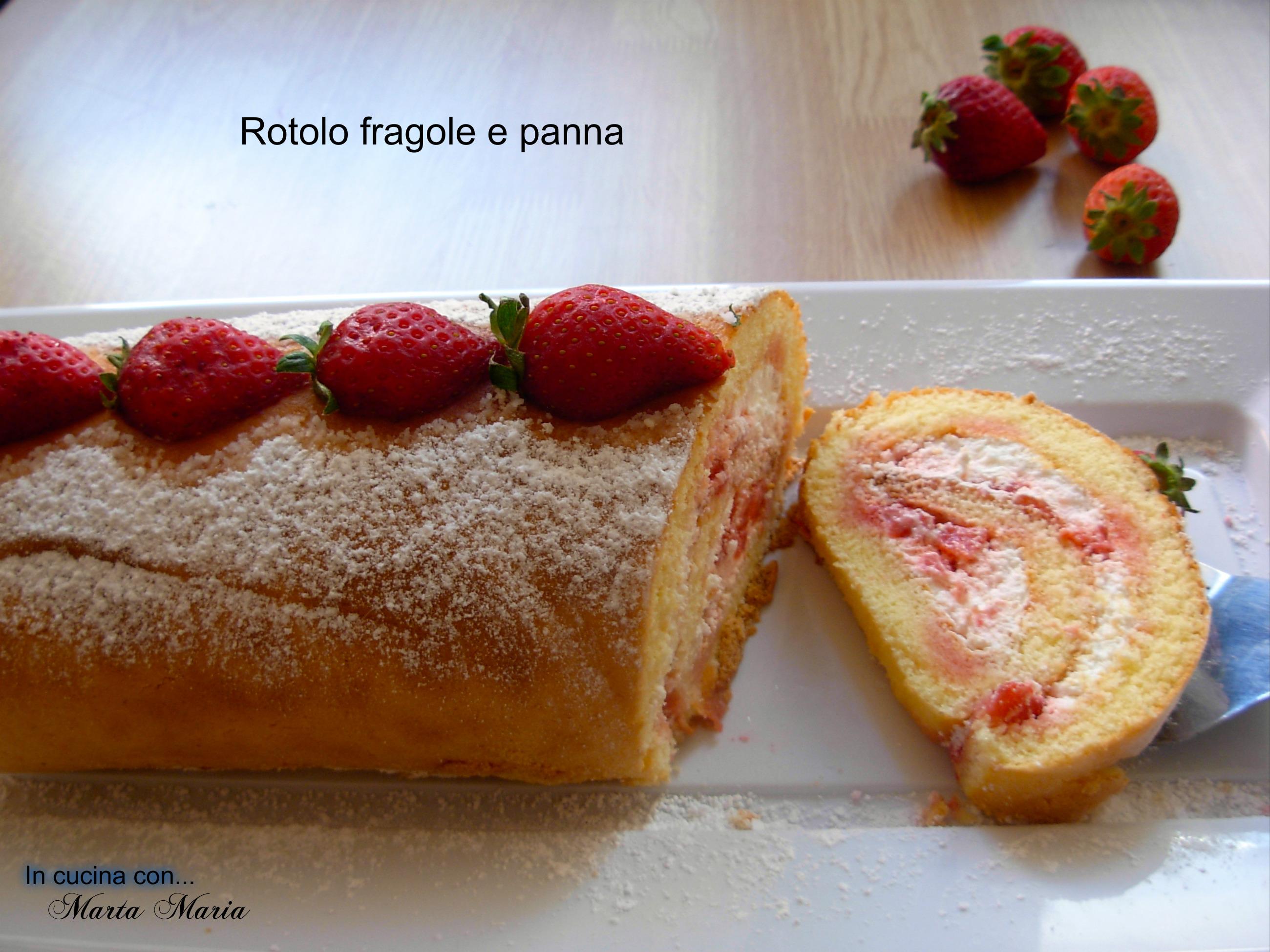 ROTOLO FRAGOLE E PANNA, ricetta facile