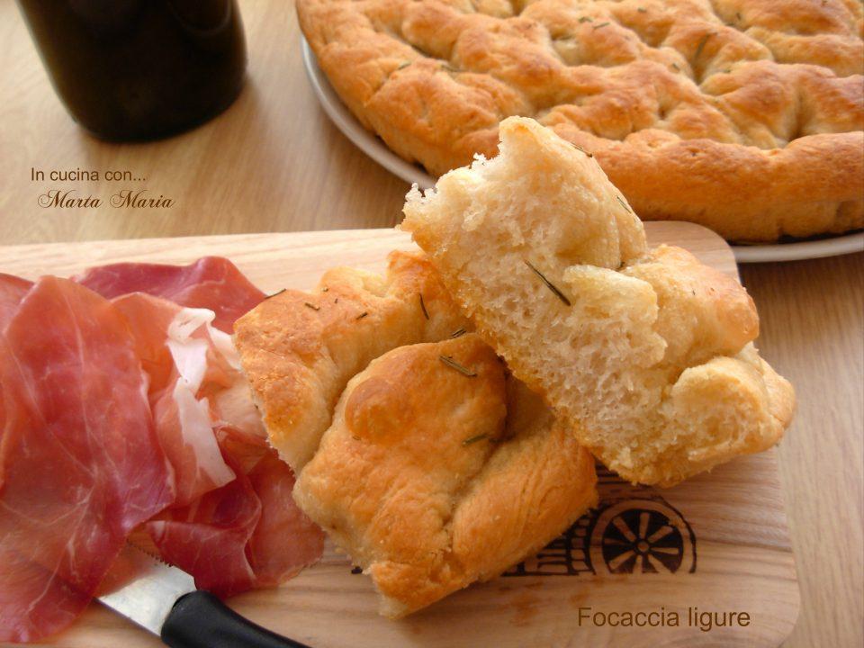 Focaccia Genovese Ricetta Originale Bimby.Focaccia Ligure Ricetta Bimby In Cucina Con Marta Maria