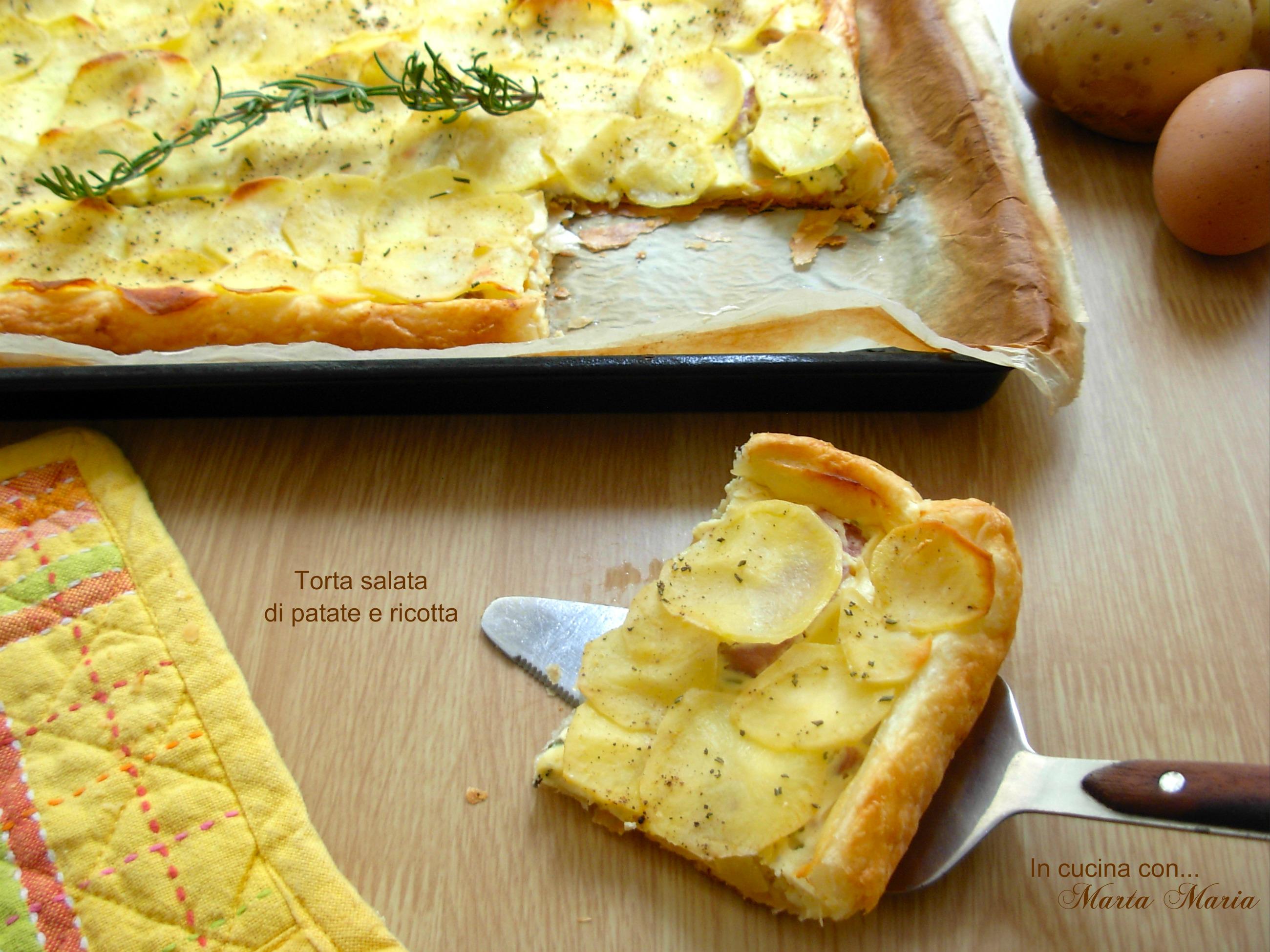 TORTA SALATA DI PATATE E RICOTTA, ricetta facile