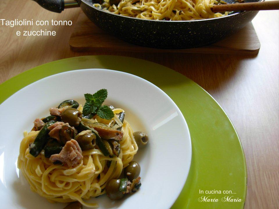 tagliolini con tonno e zucchine
