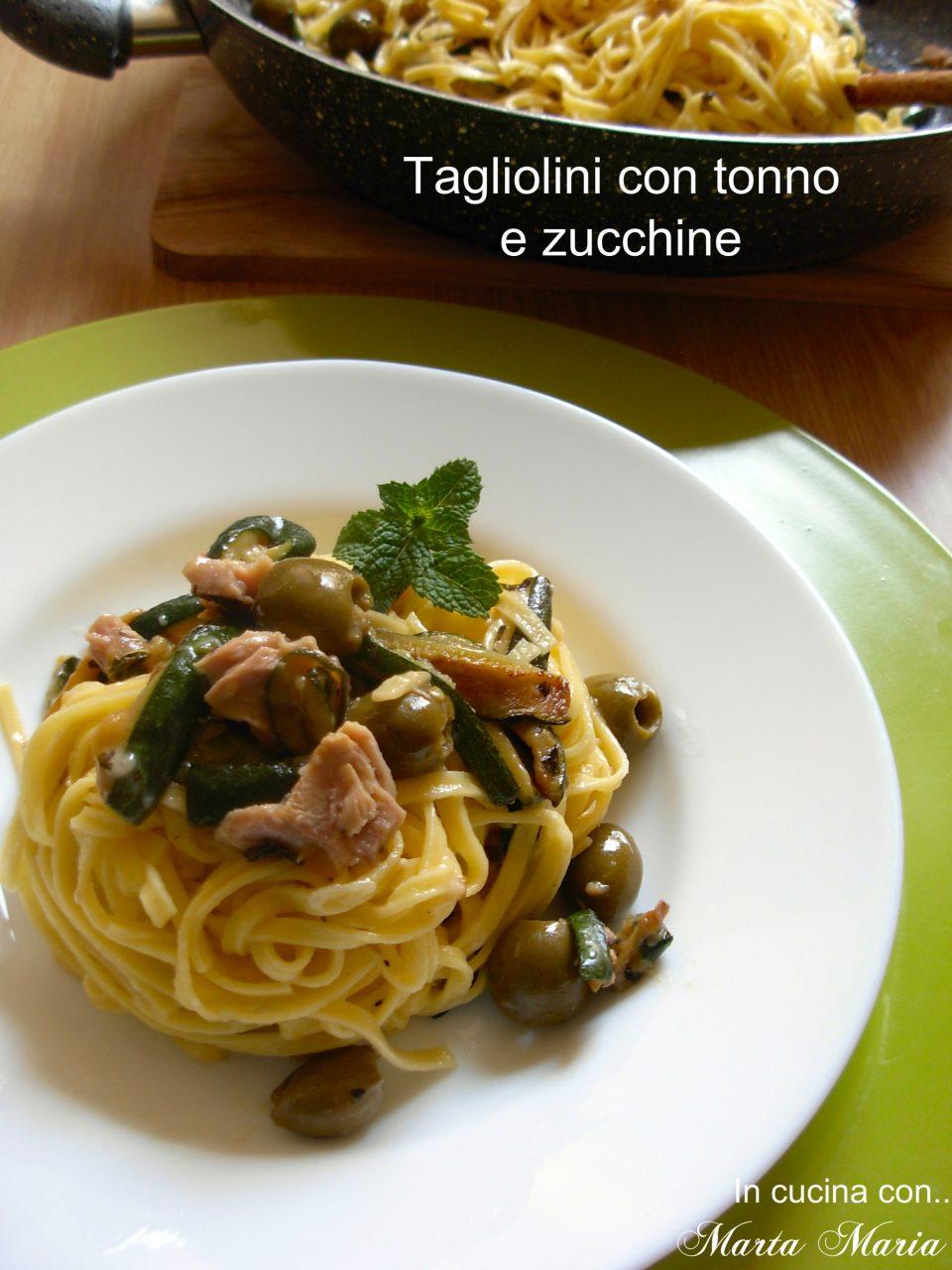 tagliolini con tonno zucchine