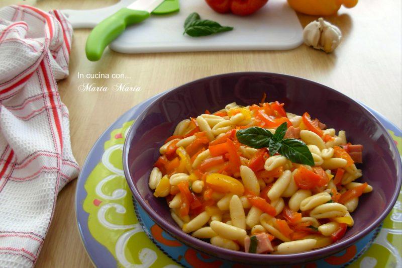 Cavatelli ai peperoni, ricetta facile