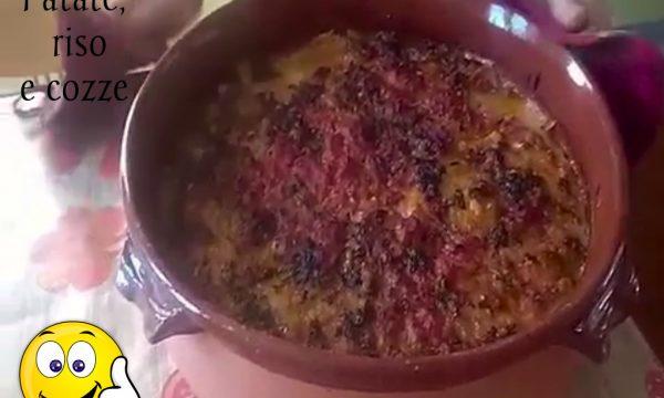 """Patate riso e cozze """"Tiella"""" , con video"""
