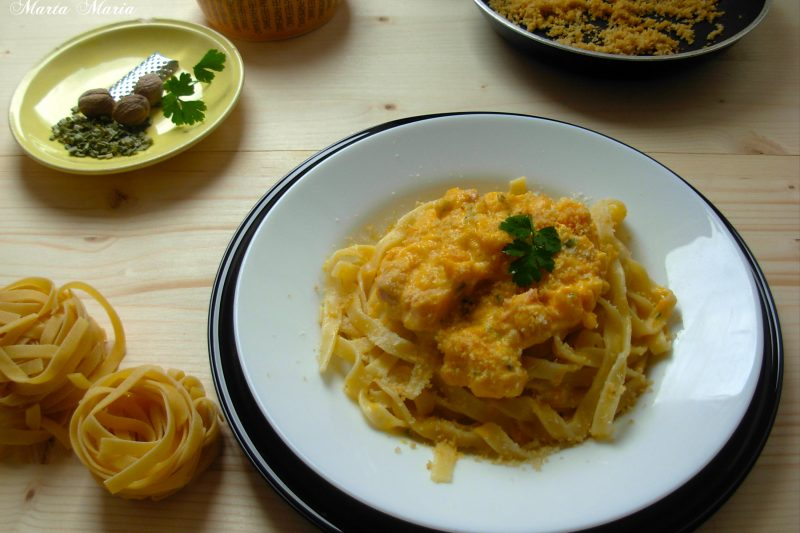 Pasta con zucca e parmigiano