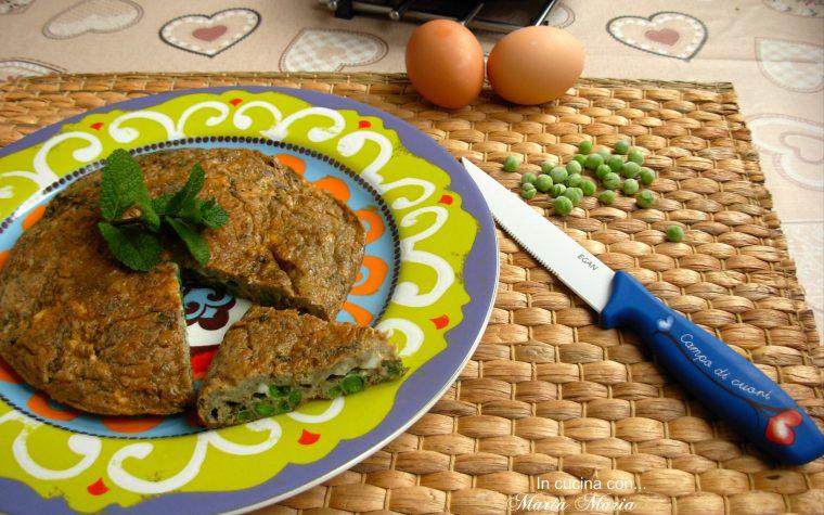 Frittata ai piselli e menta, ricetta facile
