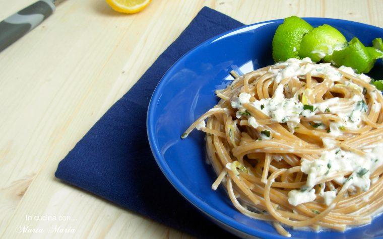 Spaghetti al limone cremosi, ma senza panna