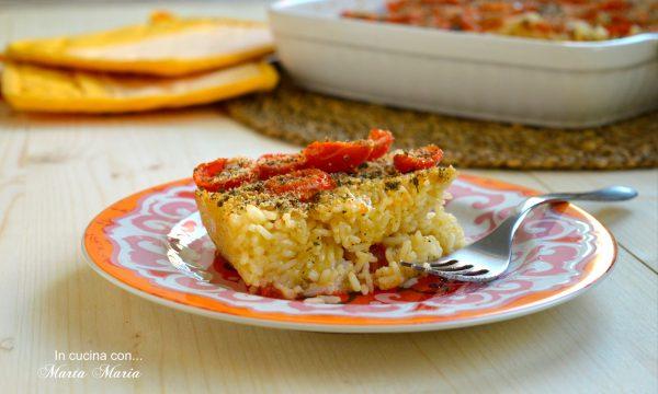 Torta di riso alla pizzaiola, ricetta facile