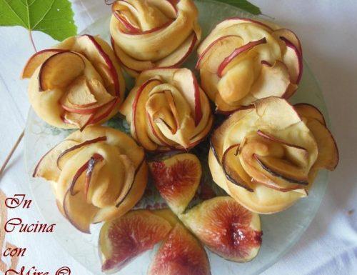 Rose di mele di pasta brioche