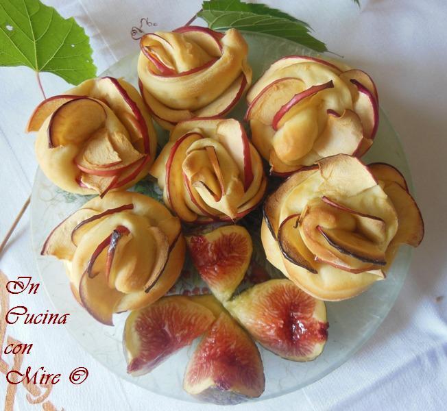Le rose di mele di pasta brioche