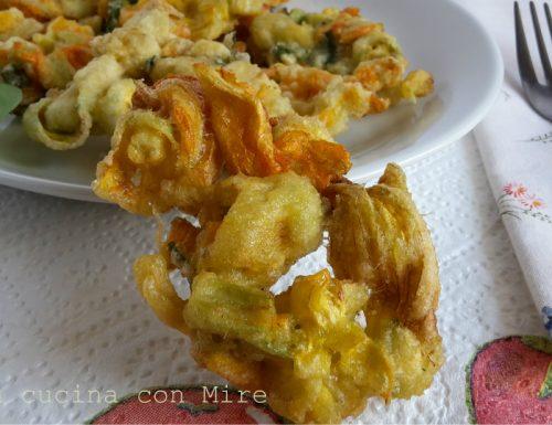 Fiori zucca in pastella
