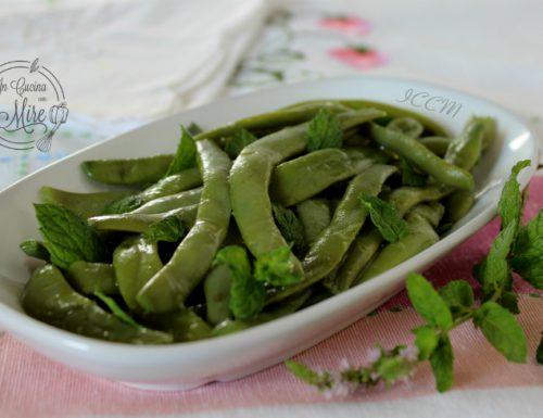 Fagiolini verdi in insalata
