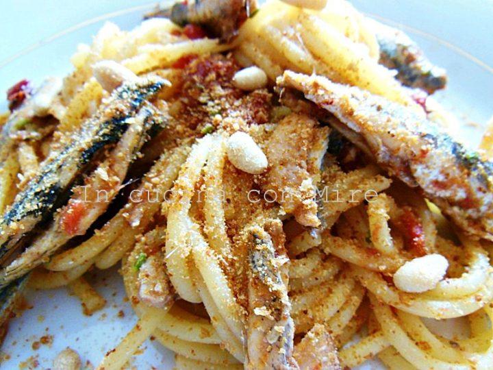 Spaghetti e alici alla campagnola home made