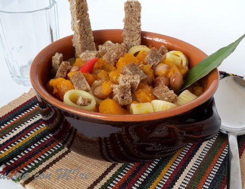 Ricetta zucca e fagioli