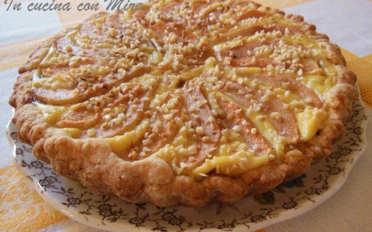 Crostata nutella pasticcera e pere – Ricetta home made