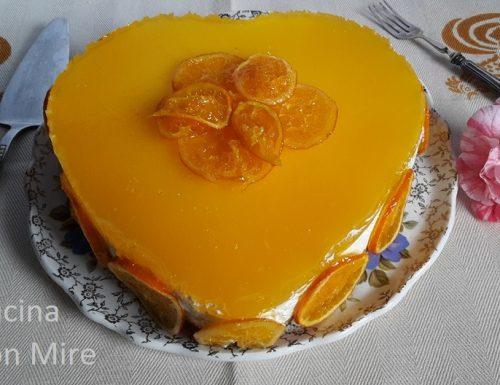 Cheesecake arancia