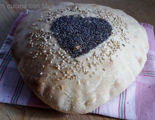 Pane bianco a cuore-ricetta