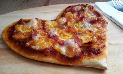Un cuore di pizza con pasta madre –  Ricetta