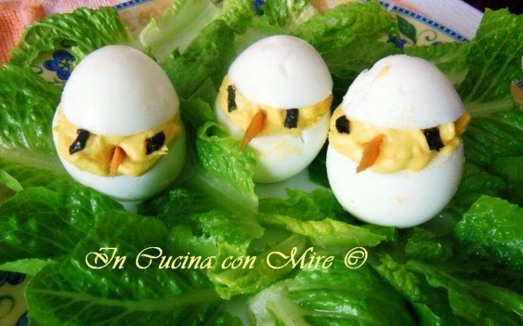 Antipasto di uova con tonno e maionese