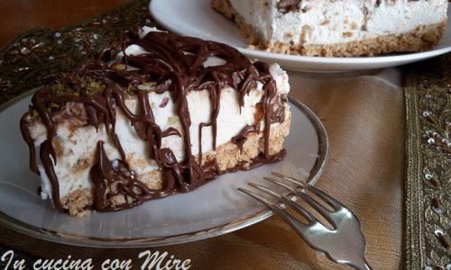 Cheesecake al cioccolato e pistacchio