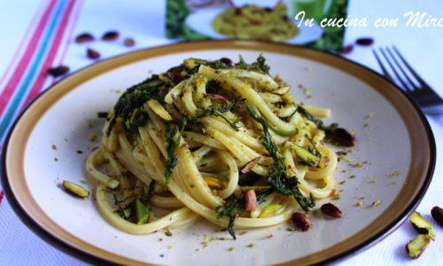 Spaghetti quadrati al pistacchio