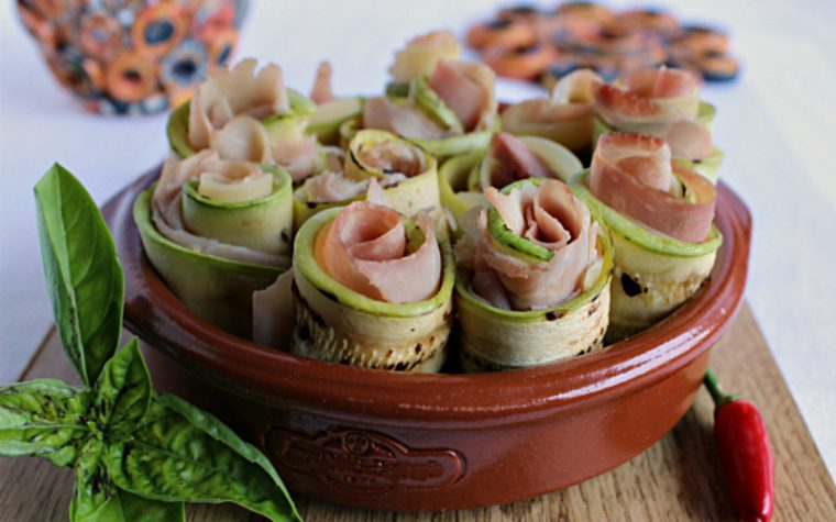 Involtini di zucchine light