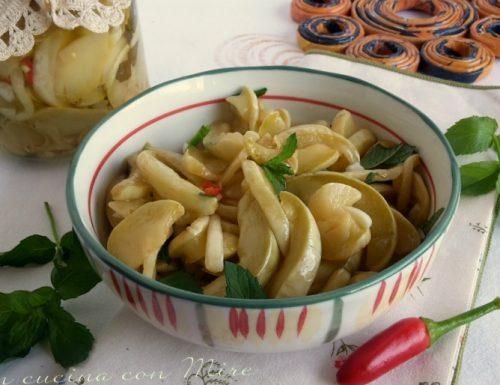 Zucchine sottolio – ricetta calabrese