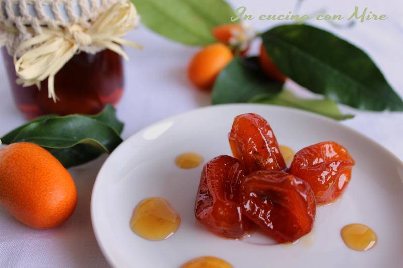 Kumquat-Mandarini cinesi sciroppati