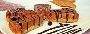 Spicchi di cheesecake nutella e mascarpone