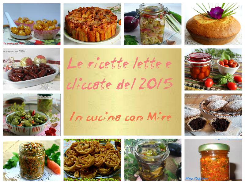 Le ricette più lette e cliccate del 2015