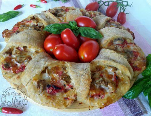 Corona di pizza con pasta madre