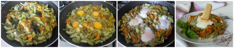 Zucchine e fiori di zucca con uova