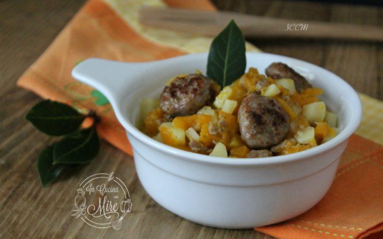 Zucca patate e salsiccia