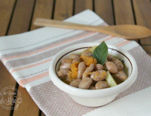 Zuppa di fagioli, zucca e patate