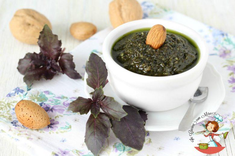 Pesto di basilico viola