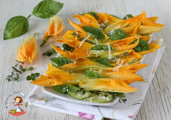 Carpaccio di zucchine e fiori