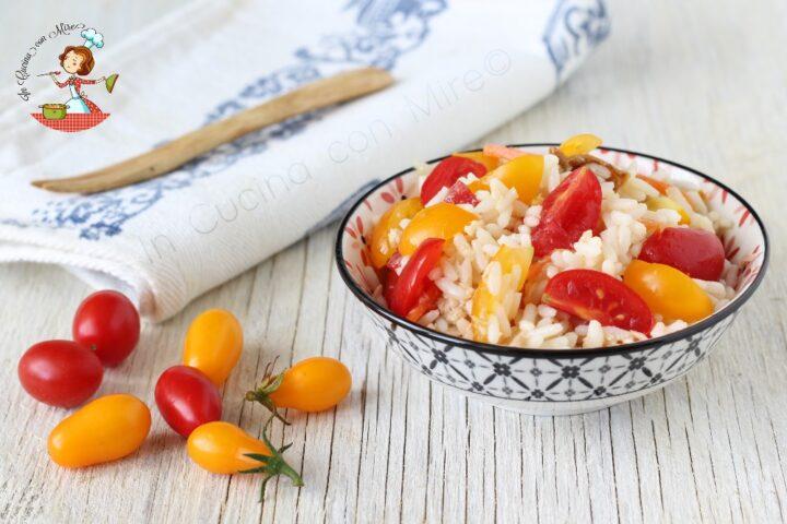 insalata di riso tonno e pomodorini