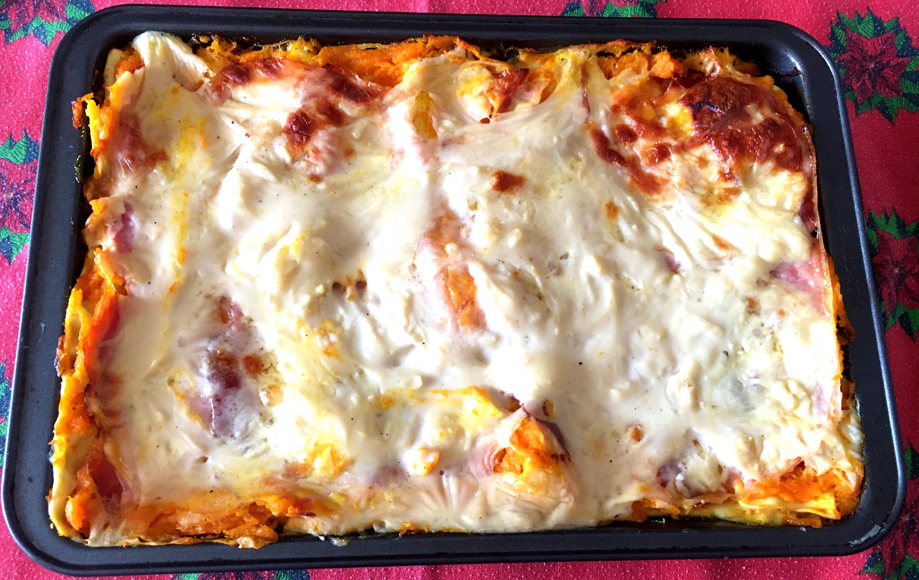 Lasagne zucca, speck e scamorza - Ricette in forno