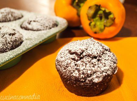 Muffin con cachi e cacao senza burro e uova