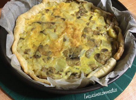 Quique con patate e funghi