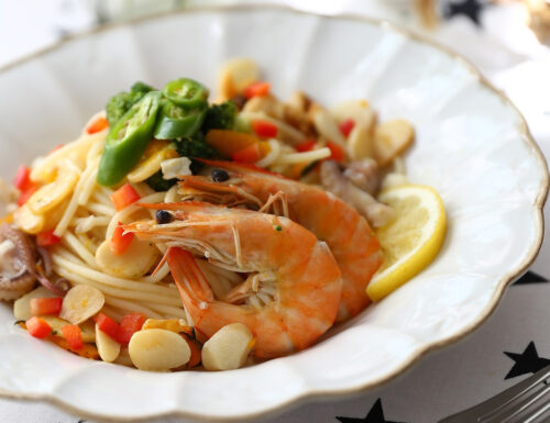 Spaghetti di Mare con Lamelle di Mandorle