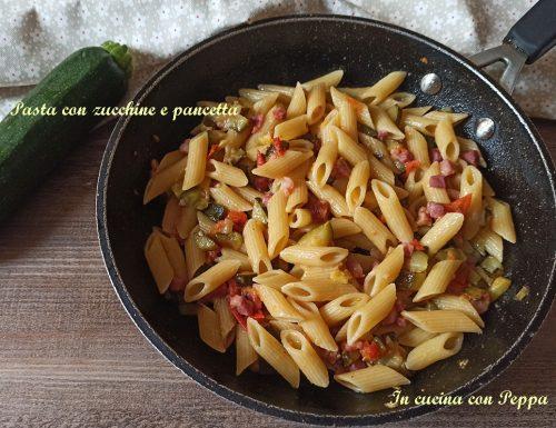 Pasta con zucchine e pancetta – ricetta saporita