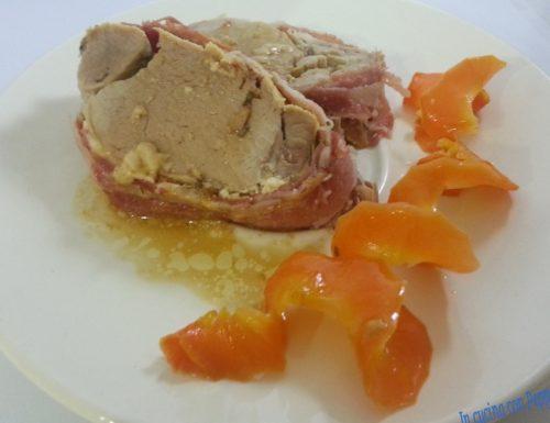Filetto di maiale arrotolato con pancetta affumicata