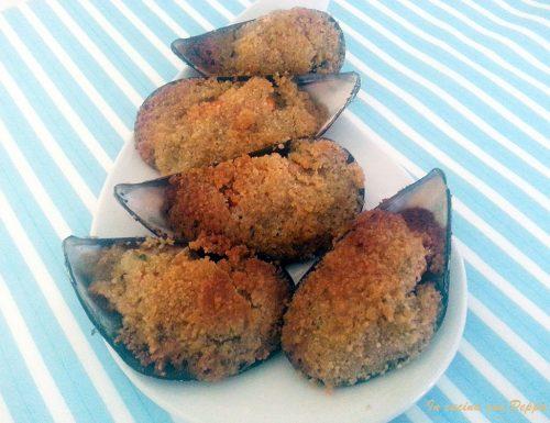Cozze gratinate – ricetta antipasto semplice