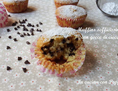 Muffins sofficissimi con gocce di cioccolato bimby