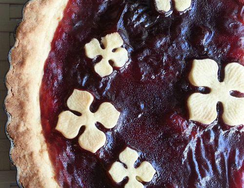 Crostata con marmellata di amarene