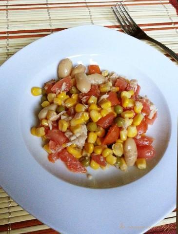 insalata fresca e colorata